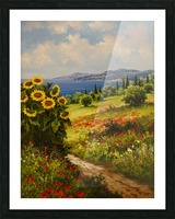 The Sunflower Grove Picture Frame print