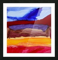 Fall Mountains. Anna B Picture Frame print