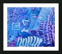 Blue Colab. Arts Education Artist Picture Frame print