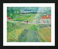 Landscape at Auvers in the Rain -2 by Van Gogh Picture Frame print