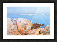 Duck island by Hassam Picture Frame print