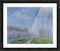 Trees on the Bank of the River Picture Frame print