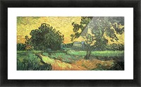 Landscape with Castle Auvers at Sunset by Van Gogh Picture Frame print