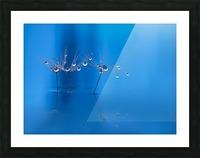 Blue fun Picture Frame print