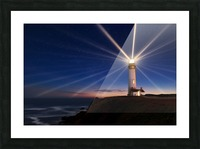 Lighting of the Lens Picture Frame print