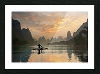 Golden Li River Picture Frame print