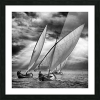 Sailboats and Light Picture Frame print