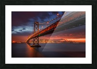 Fire over San Francisco Picture Frame print