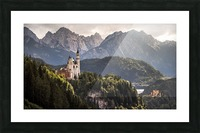 The Two Castles Picture Frame print