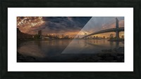 Between bridges Picture Frame print