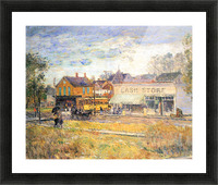 End of the tram, Oak Park, Illinois by Hassam Picture Frame print