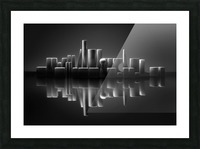 Blockville on the lake Picture Frame print