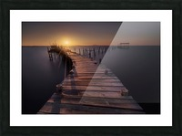 The dock Picture Frame print
