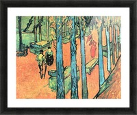 Les Alyscamps, falling leaves by Van Gogh Picture Frame print