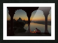Illuminating the Taj Picture Frame print