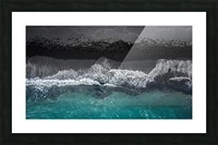 black beach Picture Frame print