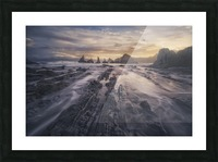 Gueirua lights Picture Frame print