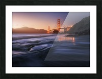 Golden beach Picture Frame print