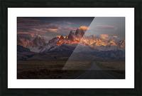 Burning peak Picture Frame print