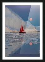 Greenland night Picture Frame print