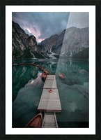 Braies reflections Picture Frame print