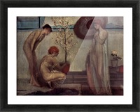 Life angel-1-by Giovanni Segantini Picture Frame print