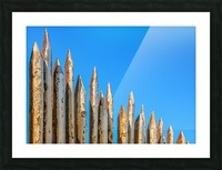 WOODEN PILLARS Picture Frame print