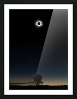 Eclipse 2017 Picture Frame print