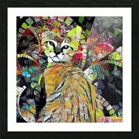 Kitten in Colorful Leaves Picture Frame print