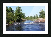 Lovers Rapids Lower French River Picture Frame print