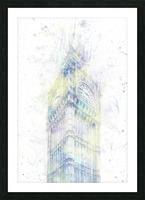 Modern Art BIG BEN | watercolor  Picture Frame print