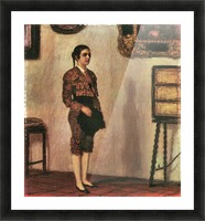 Mary as a bullfighter by Franz von Stuck Picture Frame print