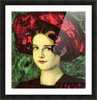 Mary with red hat by Franz von Stuck Picture Frame print