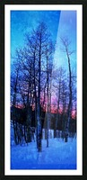 Winter Trees Picture Frame print