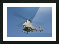 An MQ-8B Fire Scout unmanned aerial vehicle in flight. Picture Frame print