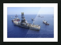Flaring operations conducted by the drillship Discoverer Enterprise. Picture Frame print