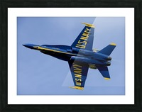 U.S. Navy flight demonstration squadron the Blue Angels. Picture Frame print