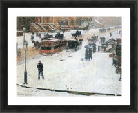 Fifth Avenue in Winter by Hassam Picture Frame print
