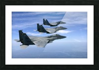 The F-15 Eagles final training mission over the the Atlantic Ocean. Picture Frame print