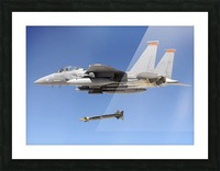 An F-15E Strike Eagle drops a GBU-28 bomb during a Combat Hammer mission. Picture Frame print