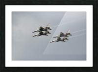 The U.S. Air Force Thunderbirds fly in formation. Picture Frame print