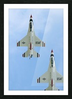 The United States Air Force Demonstration Team Thunderbirds Picture Frame print