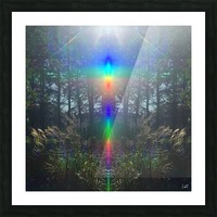 Rainbow Light Picture Frame print