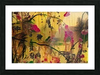 Oriental Painting. Japanese Style Picture Frame print