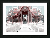 Buddhist Monk Pink&Mint Picture Frame print