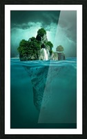 MYSTERY ISLAND Picture Frame print
