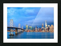 San Francisco on Blue Picture Frame print