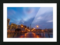 San Francisco During Storm Picture Frame print