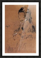 Mrs Leyland seated by Whistler Picture Frame print