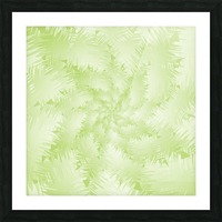 Green Snowflake Picture Frame print